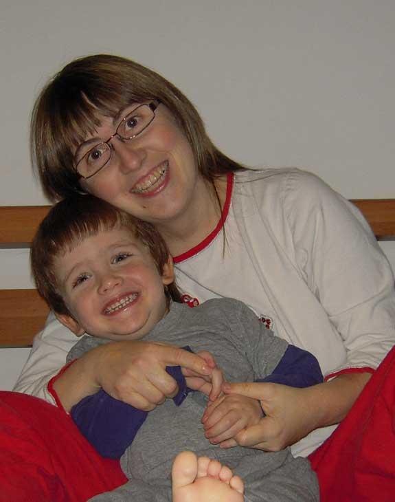Mamma Claudia e Topastro in pigiama