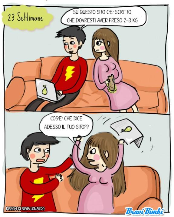 23 settimane di gravidanza, vignetta