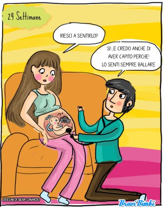 24 settimane di gravidanza, vignetta