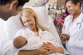 in ospedale dopo il parto