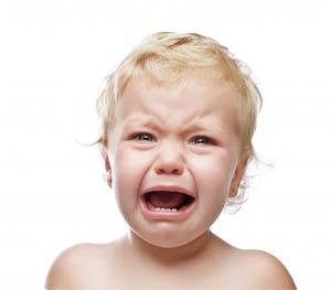 piangere bambino
