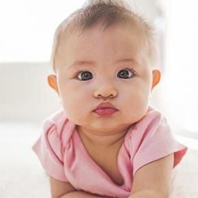 neonata di pochi mesi